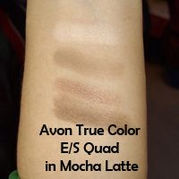 Avon True Color Eyeshadow Quad in Mocha Latte