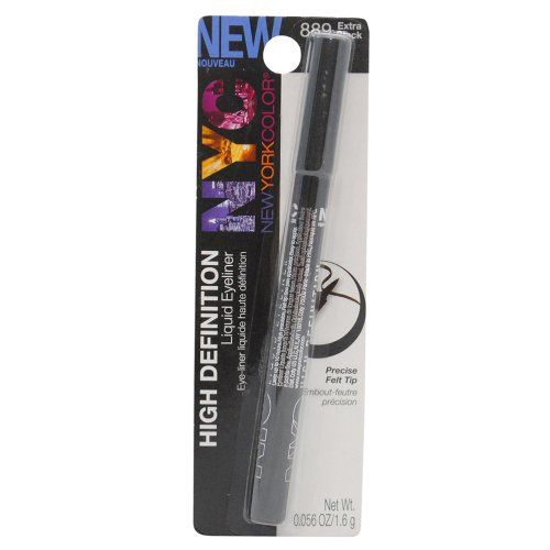 New York Color High Definition Liquid Eyeliner  extra black
