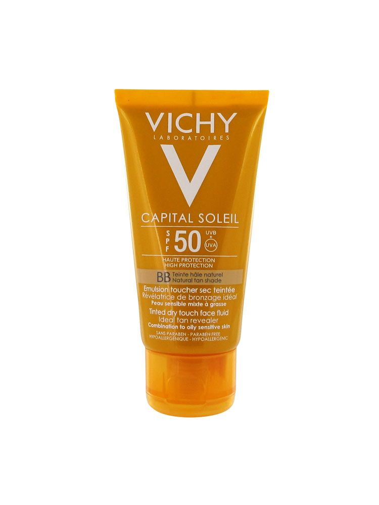 vichy capital soleil bb tinted dry touch face fluid spf 50. Black Bedroom Furniture Sets. Home Design Ideas