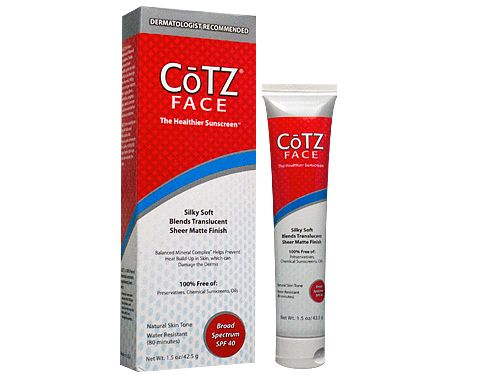 Cotz Face Sunscreen for Lighter Skin Tones, SPF 40 1.5 oz (Pack of 6) Viniferamine Skin Renewal Cream by By McCord Research