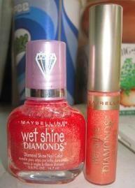 Maybelline Wet Shine Diamonds - Peach Glimmer