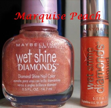 Maybelline Wet shine diamonds liquid in Marquise Peach