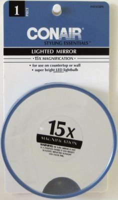 Conair Lighted 15X Magnification Mirror