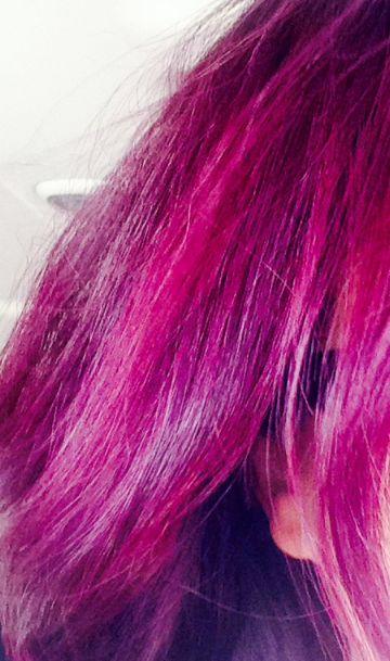 Purple Haze Manic Panic On Unbleached Hair