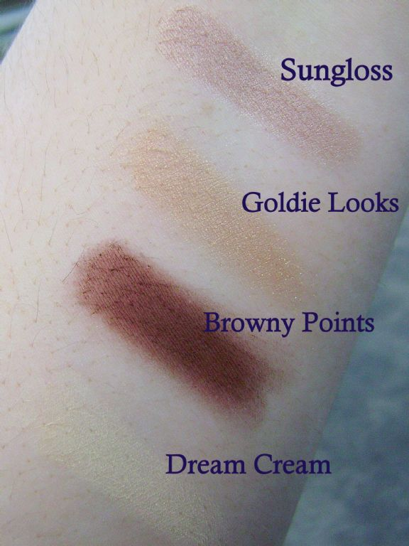 "Jane Eye Zings ""Browns"" Palette Swatches (Uploaded by Katie4098)"