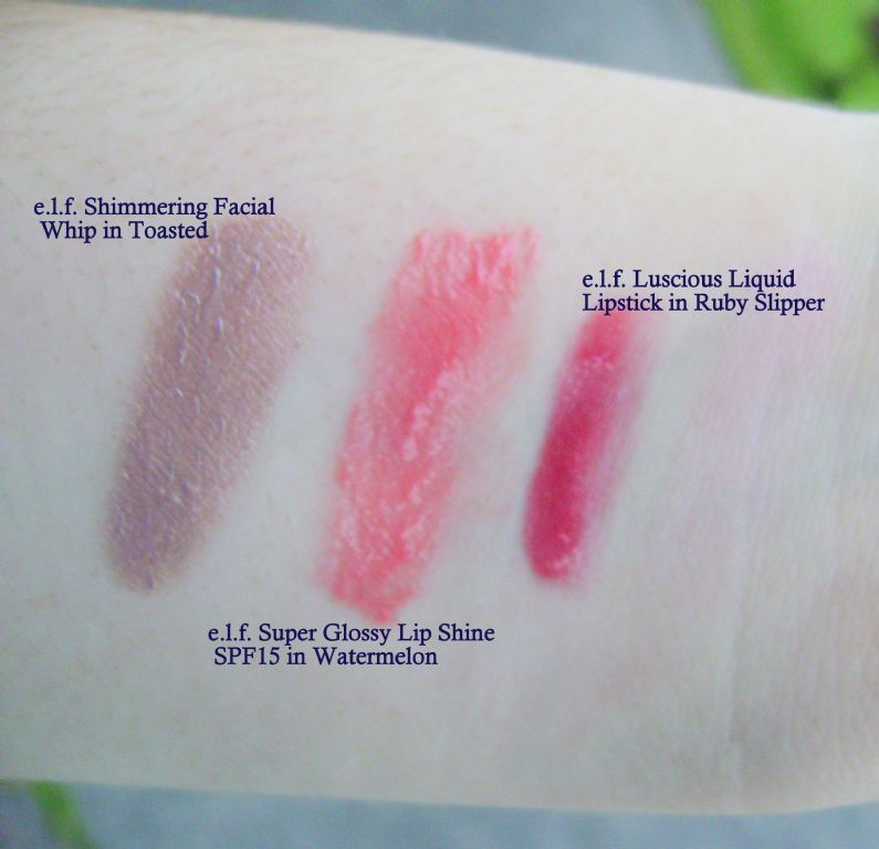 e.l.f. Swatches (Uploaded by Katie4098)