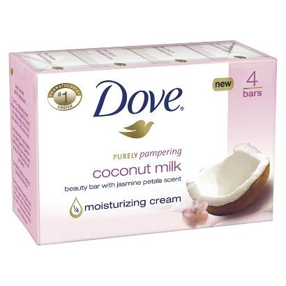 Dove Purely Pampering Coconut Milk Beauty Bar With Jasmine Petals Scent Bar Soap Reviews Photos Ingredients Makeupalley