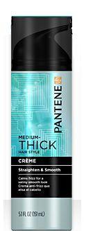 Pantene Medium-Thick Straighten & Smooth Crème