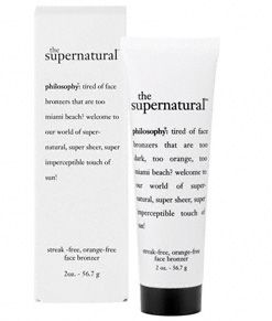 Philosophy supernatural streak and orange free face bronzer