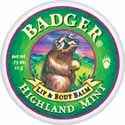 Badger Highland Mint Lip & Body Balm