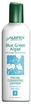 Aubrey Organics Blue Green Algae with Grape Seed Extract Facial Cleansing Lotion