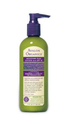 Avalon Organics Lavender Moisture Plus Lotion with SPF 18