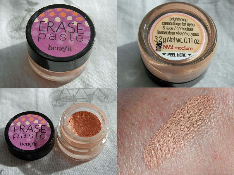 Benefit cosmetics erase paste no. 2 medium deluxe sample 3. 2g.