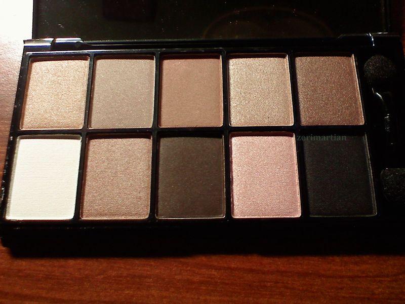nyx professional makeup 10 color palette champagne. Black Bedroom Furniture Sets. Home Design Ideas