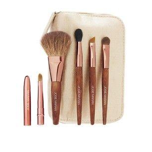 Josie Maran Cosmetics Makeup Bag With Brushes
