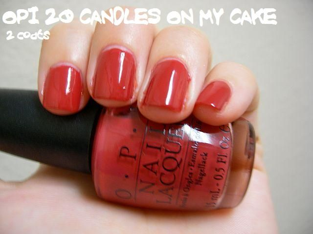 OPI 20 Candles On My Cake