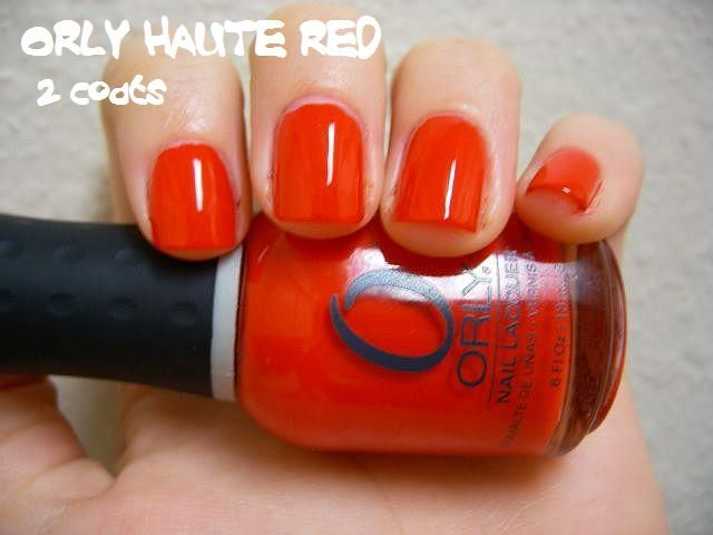 Orly Haute Red reviews, photos, ingredients - MakeupAlley