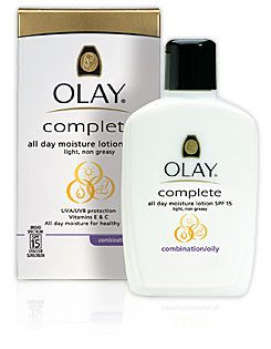 Olay Complete Lotion Moisturizer with SPF 15 Oily, 6.0 fl oz Maybelline Baby Lips Moisturizing Lip Balm SPF 20, Grape Vine 1 ea (Pack of 2)
