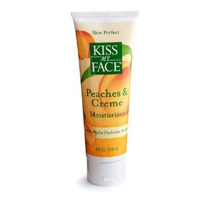 Kiss My Face Peaches and Creme moisturizer with AHA