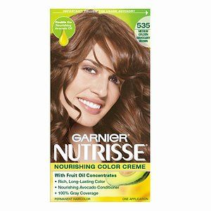 garnier nutrisse nourishing color creme in 535 medium golden mahogany brown - Colores Garnier