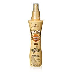 Got2B Guardian Angel Heat Protect N' Flatten Flat Iron Balm and Gloss Finish