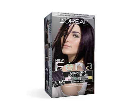 L'Oreal Feria Midnight Collection - in Violet Soft Black M32