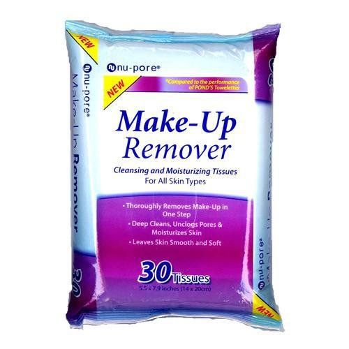 NU-PORE - Make Up Remover Cleansing & Moisturizing Tissues for All Skin Types