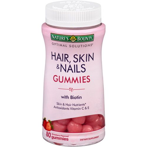 Nature\'s Bounty Extra Strength Hair Skin and Nail Vitamins (5,000 ...