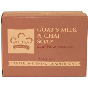 Nubian Heritage Goat's Milk & Chai Soap with Rose Extracts