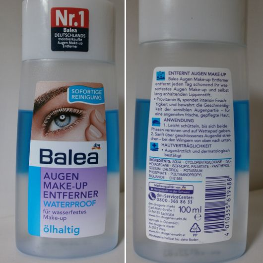 Balea  waterproof eye makeup remover