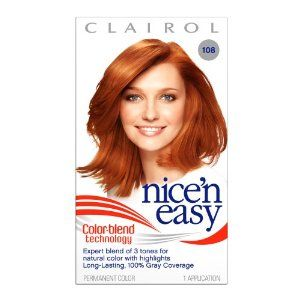 clairol nice n easy in 108 natural golden auburn - Clairol Nice And Easy Hair Color