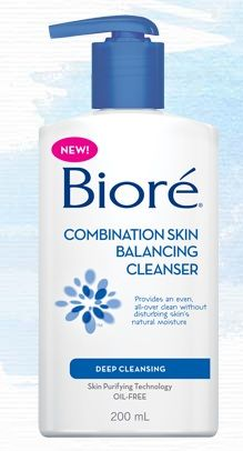Biore Combination Skin Balancing Cleanser