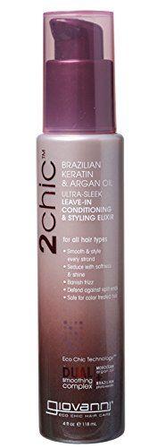 Giovanni 2chic Brazilian Keratin & Argan Oil Ultra-Sleek Leave-In Conditioning & Styling