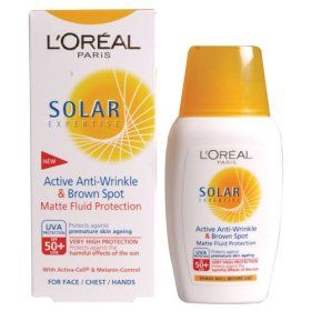 L'Oreal Solar Expertise Active Anti-Wrinkle & Brown Spot Matte Fluid Protection SPF50+