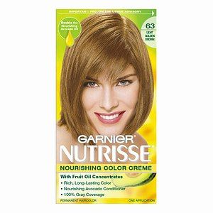 Garnier Nutrisse Nourishing Color Creme In 63 Light Golden Brown