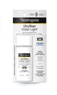 Neutrogena Ultra Sheer Water Light daily face sunscreen spf 60