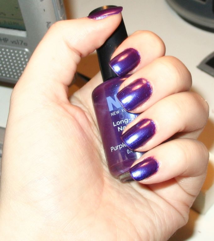 Nyc New York Color Long Wearing Nail Enamel Purple Pizzazz 133