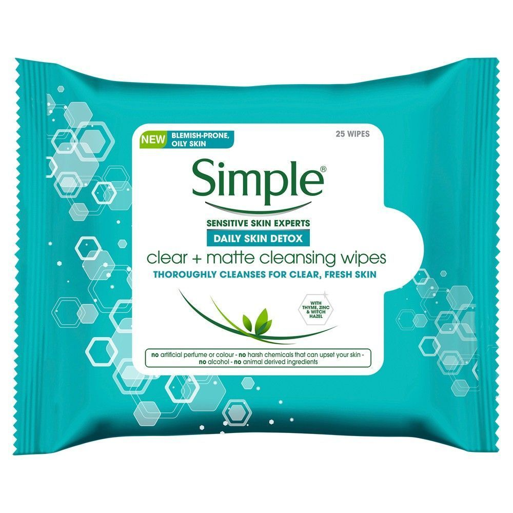 Detox Clean Matte Cleasing Wipes