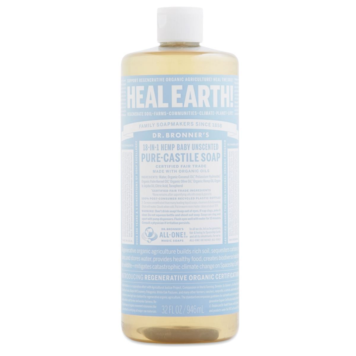 Baby-Mild Unscented Castile Liquid Soap