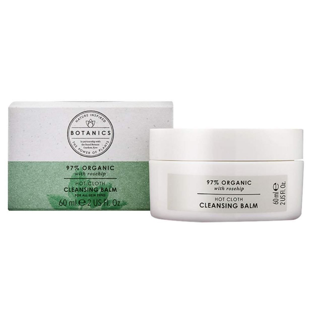 97% Organic Botanics Hot Cloth Cleansing Balm