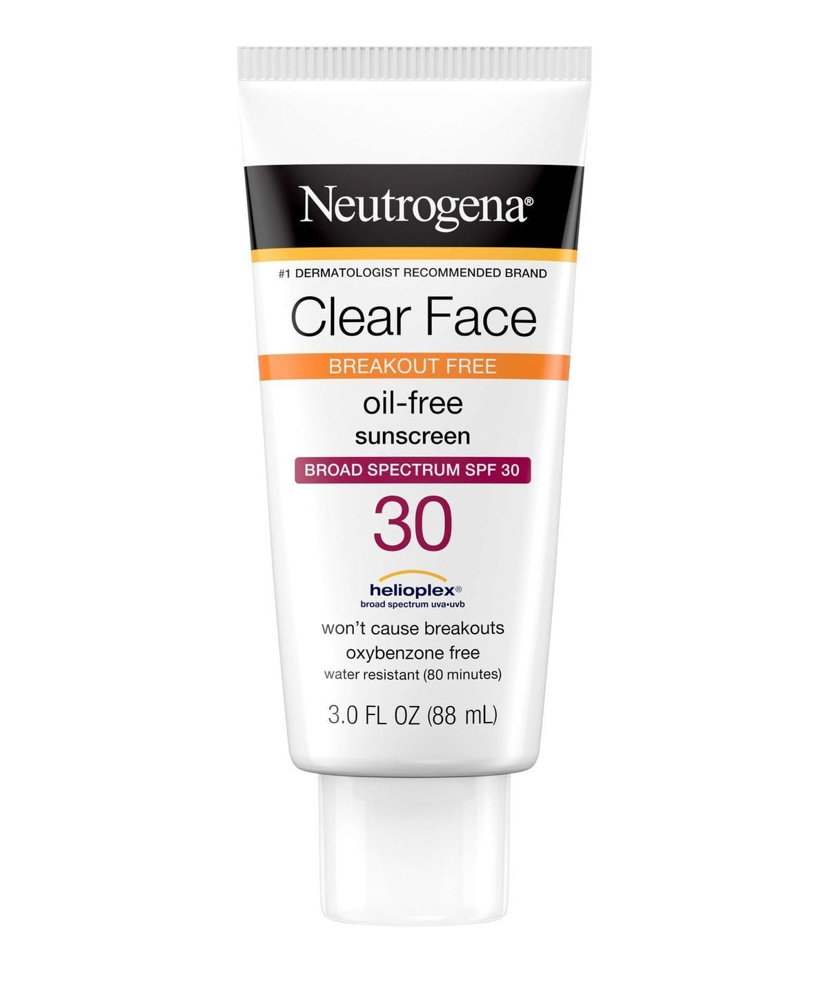 Clear Face Breakout Free Oil-Free Sunscreen Broad Spectrum SPF 30