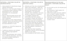 SEPHORA   PANTONE COLOR IQ