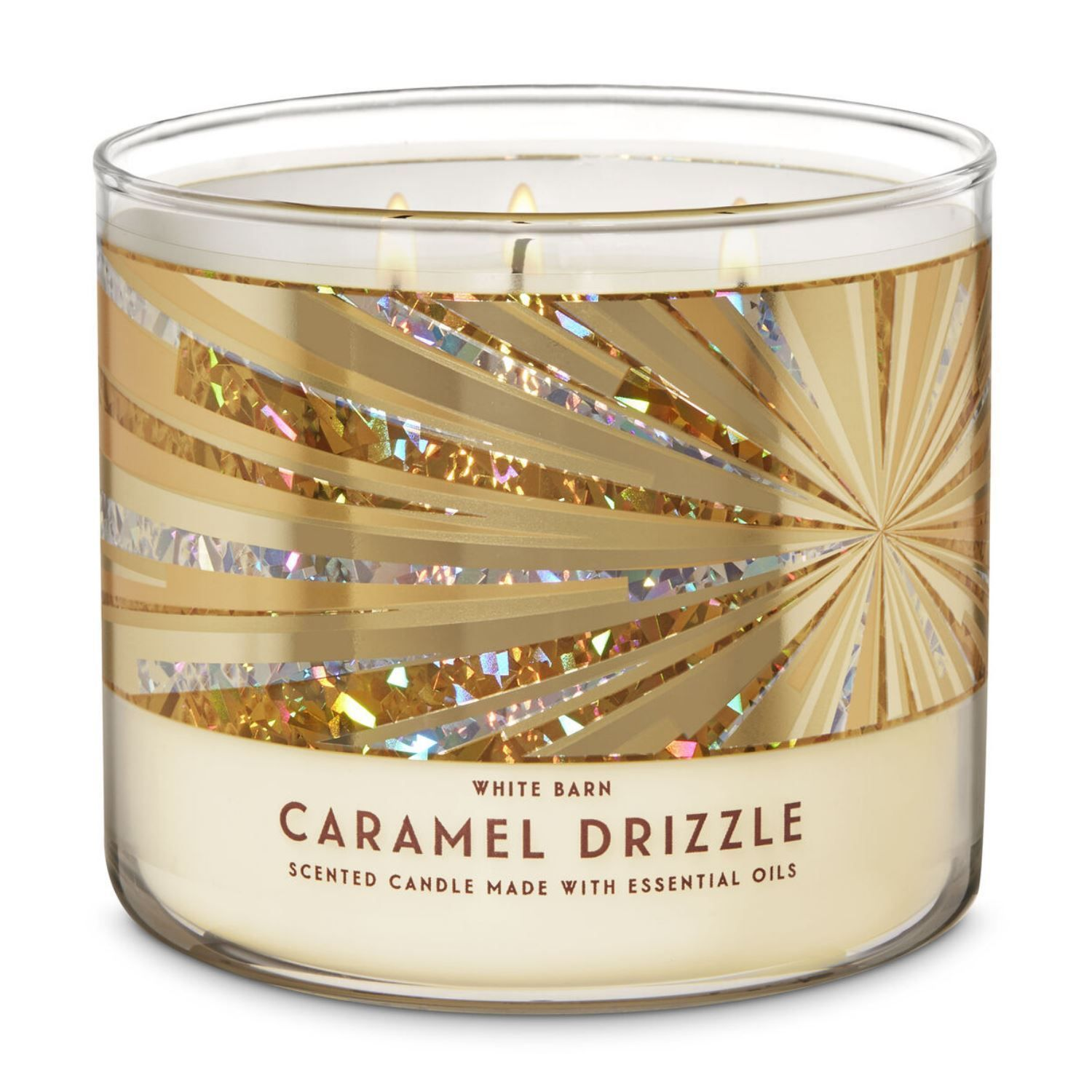 White Barn Caramel Drizzle 3-Wick Candle