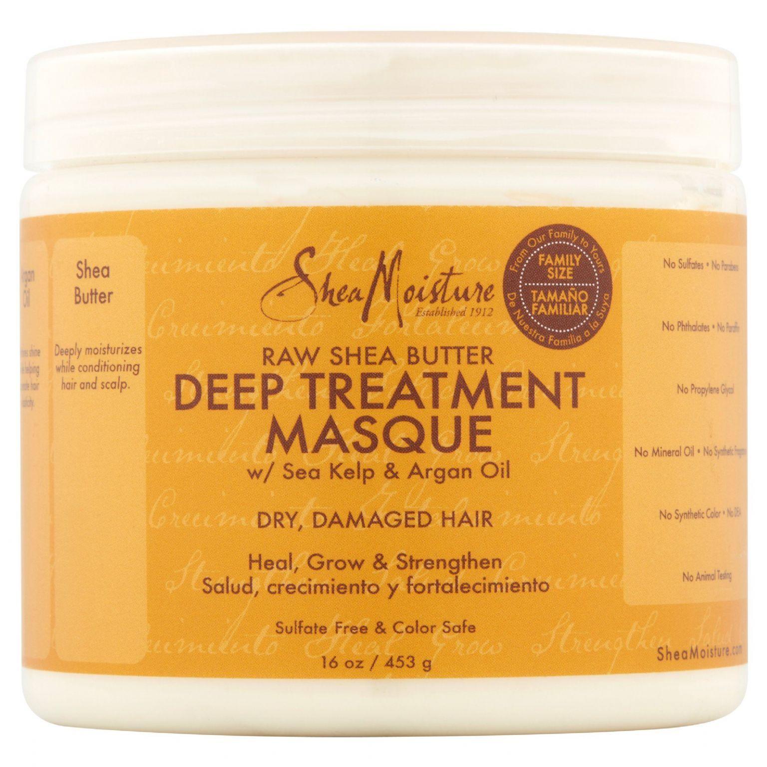 Raw Shea Butter Deep Treatment Masque with Sea Kelp & Argan Oil