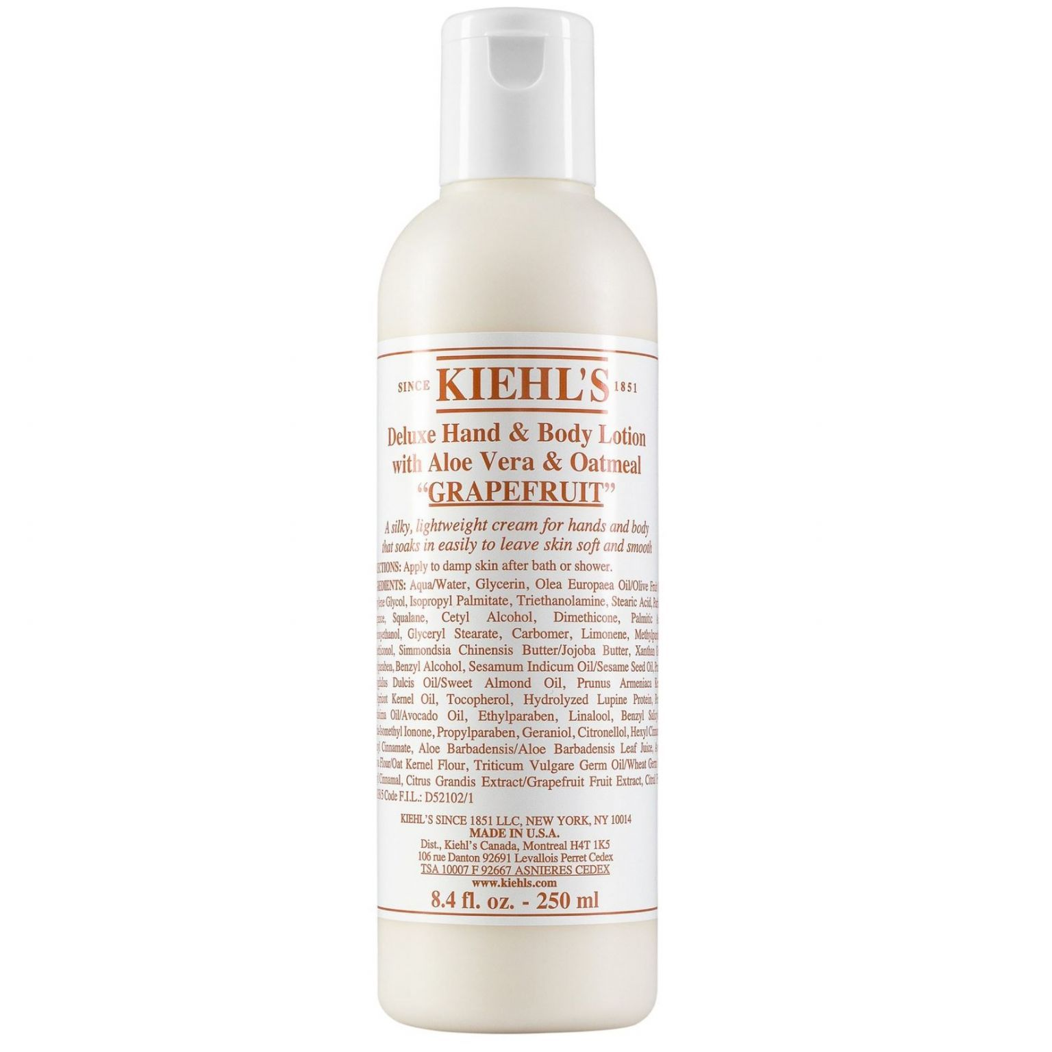 Grapefruit Deluxe Hand & Body Lotion with Aloe Vera & Oatmeal