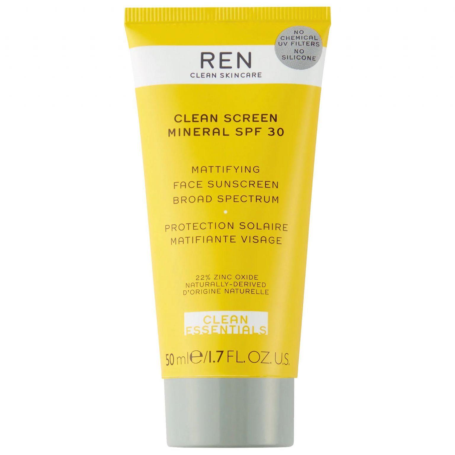 CLEAN SCREEN Mineral SPF 30 Mattifying Face Sunscreen Broad Spectrum