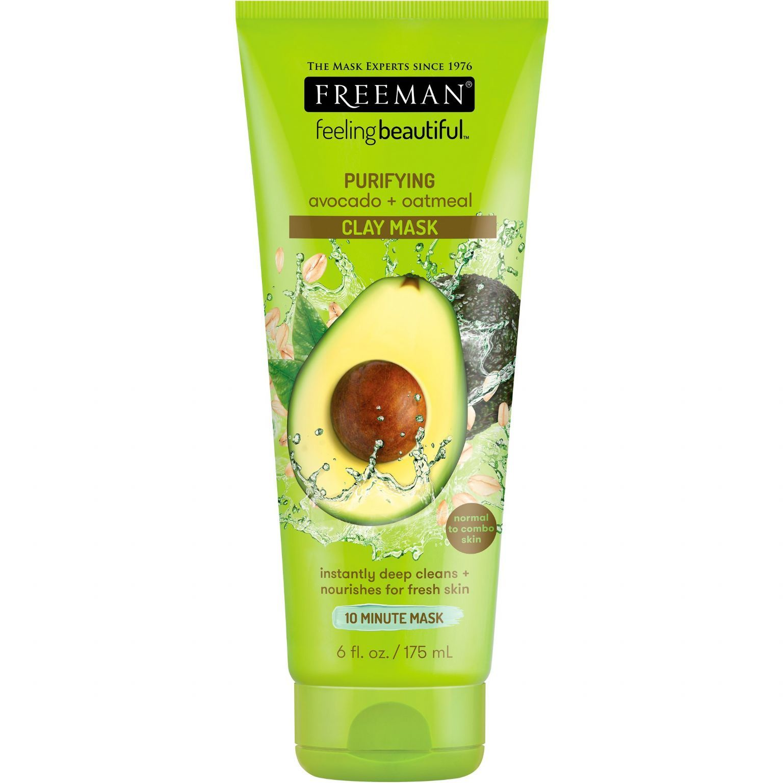 Feeling Beautiful Purifying Avocado + Oatmeal Clay Mask