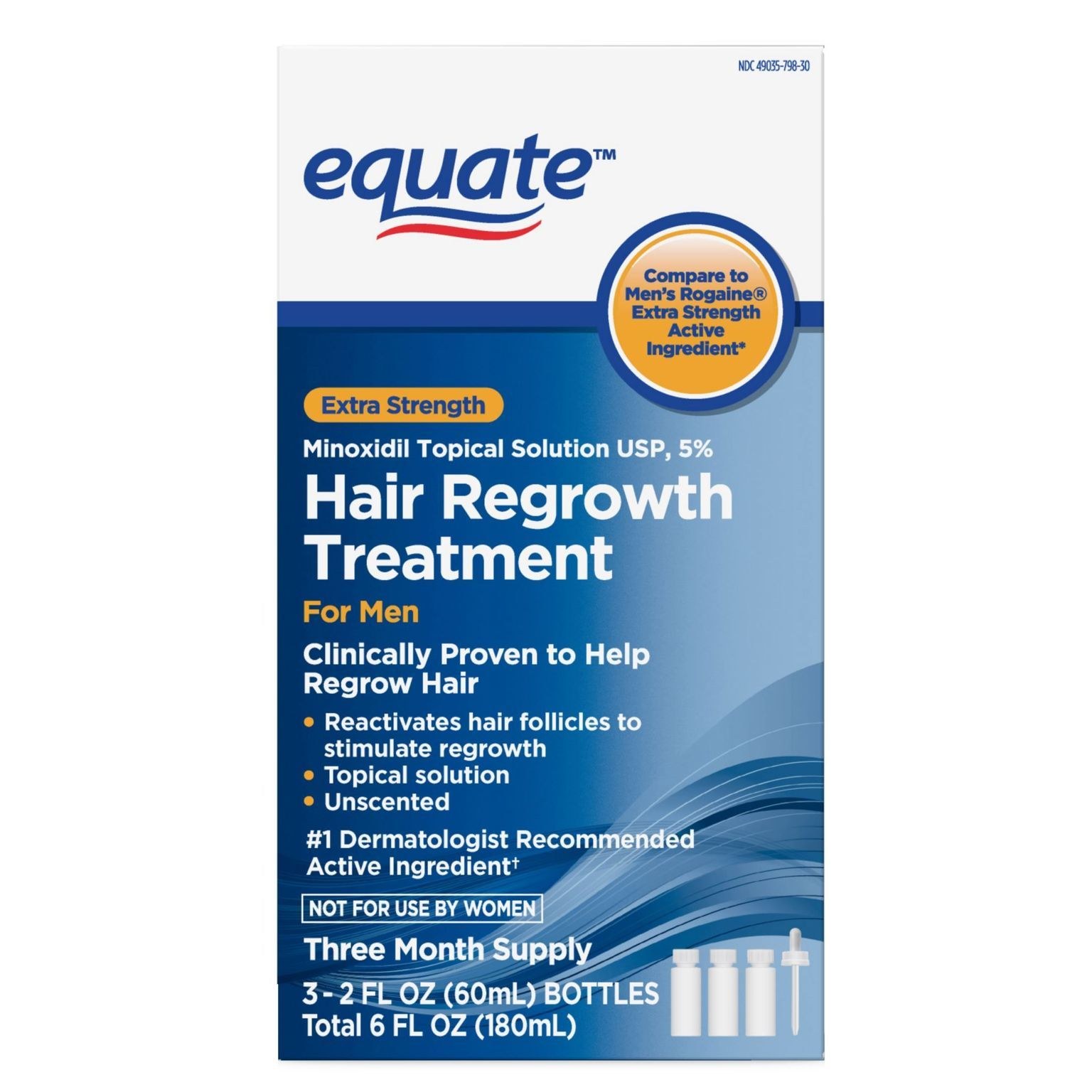 Minoxidil Topical Solution 5% Hair Regrowth Treatment