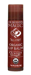 Organic Lip Balm - Orange Ginger