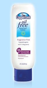 Coppertone Oil Free SPF 45 Sunblock Lotion